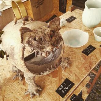 よこみちテント 益子陶器市