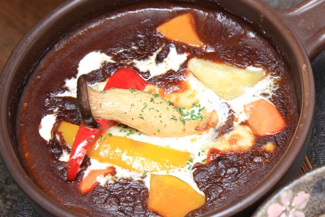 釜焼き ビーフシチュー 益子カフェ