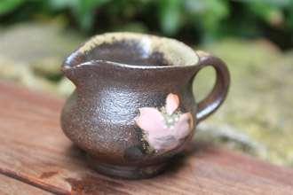 オリジナル珈琲カップ ソーサー 益子焼き 陶器 シュガーポット 砂糖入れ ミルクピッチャー ミルク入れ