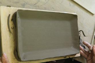 陶芸体験 手びねり体験 角皿 刺身皿 オリジナル