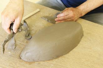 陶芸体験 カレー皿 手びねり オリジナル