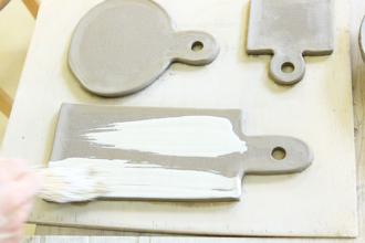 益子焼 陶芸体験 手びねり体験 カッティングボード オリジナル