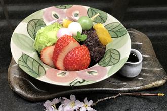 益子焼 作家 横山貴史 寿司割烹 喜多八 寿司皿 刺身皿 割烹器 あんみつ