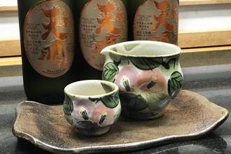 益子焼 作家 横山貴史 寿司割烹 喜多八 寿司皿 刺身皿 割烹器 酒器