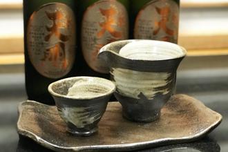 益子焼 作家 横山貴史 寿司割烹 喜多八 寿司皿 刺身皿 割烹器 酒器セット