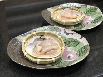 益子焼 作家 横山貴史 寿司割烹 喜多八 寿司皿 刺身皿 割烹器 喜多八 地蛤の浜焼き