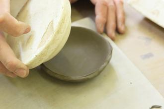 陶芸体験 手びねり体験 小皿 醤油皿 益子焼