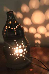 益子焼き 陶器 ランプシェード ランプ 陶芸体験