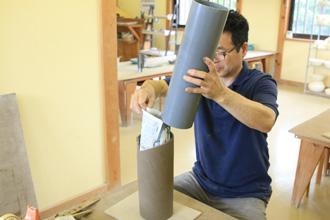 益子焼 オリジナル ランプシェード 陶芸体験 手びねり体験