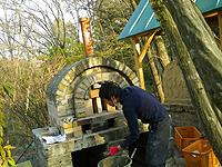ピザ窯作り