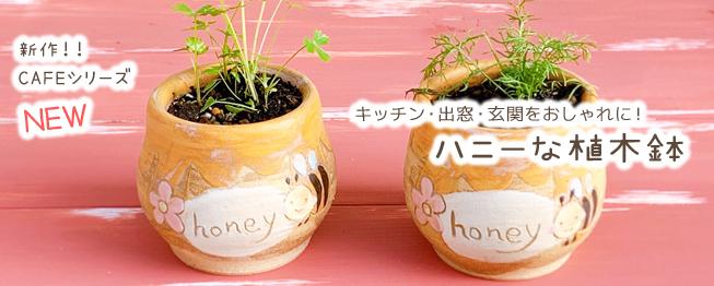 ハニーな植木鉢