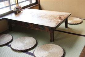 益子の茶屋の畳席