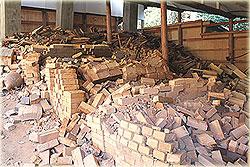 震災後の登り窯