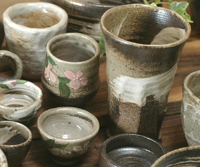 陶芸体験 作品 焼き上がり 益子焼 炭化焼き